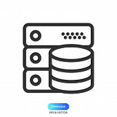 Data Server Icon Simple Vector Sign And Modern Symbol. Data Server Vector Icon Illustration, Editabl poster