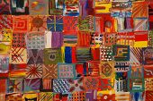 Bright Patchwork Quilt Painting