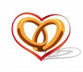 Rings heart