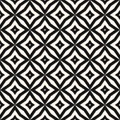 Vector Abstract Grid Seamless Pattern. Black And White Graphic Background. Simple Geometric Ornament poster