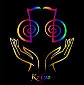 Karuna Reiki. Energy Healing. Alternative Medicine.  Symbol Kriya. Spiritual Practice. Esoteric.open poster