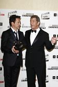 BEVERLY HILLS, CA - OCTOBER 14: Robert Downey Jr, Mel Gibson at the 25th American Cinematheque Award Honoring Robert Downey Jr held at The Beverly Hilton hotel on October 14, 2011 in Beverly Hills, CA
