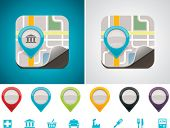 stock photo of poi  - Customizable map location icon - JPG
