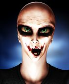 Palhaço psicopata alienígena