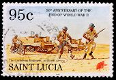 A 95-cent Stamp Printed In Saint Lucia