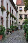 bishofhof pátio, regensburg