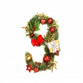 Christmas alphabet number