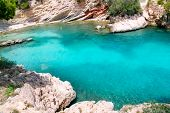 Calvia Cala Fornells turquoise mediterranean in Majorca at balearic islands of Spain