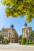 Summer View Of Market Street (hungarian: Piac Utca), The Major Street Of Debrecen City, Hungary. Blo poster
