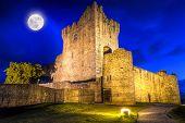 Ross castle at night