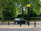 Road traffic speed camera city London UK poster