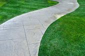 Lawn And Pathway