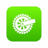 Cogwheel Icon. Simple Illustration Of Cogwheel Vector Icon For Web poster