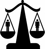 Scales Of Justice W Man And Woman.