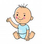 Baby. Baby Vector. Baby Cartoon. Baby Character poster
