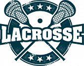 Carimbo de esporte de Lacrosse de estilo vintage