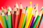 Colour pencils in creativity concept