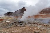 Myvatn Geothermal Area Hverir Namafjall In Northeast Iceland. poster