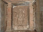 Interior, On The Walls Of Ancient Kama Sutra Temples In India Kajuraho. Unesco World Heritage Site.  poster