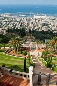The Bahai Gardens In Haifa Israel