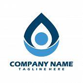 Water Logo. Blue Water Logo. Water Icon, Water Best Logo. Aqua Logo. Bright Water Logo. Eco Logo.wat poster