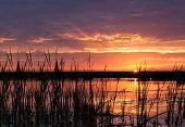 Sunrise Over Dam