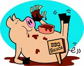 Pig Or Hog Eating BBQ