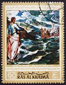 Postage stamp Ras al-Khaimah 1970 Christ at the Sea of Galilee,