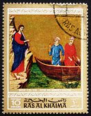 Postage stamp Ras al-Khaimah 1970 Calling of Peter and Andrew, P