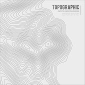 Grey Contours Vector Topography. Geographic Mountain Topography Vector Illustration. Topographic Pat poster