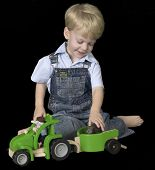 Boy and Toy Truck