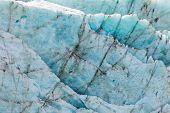 Blue glacier ice background texture pattern