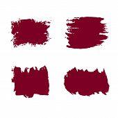 Grunge Hand Drawn Paint Brush. Vector Black Ink Brush Stroke. Paint Background High Brush Detail. Gr poster