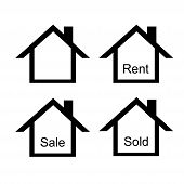 Property Sign Using For Signing The House, Apartement, Building And Anything Else For Rent, Sale Or  poster