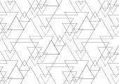 Linear Triangle Vector Pattern With Big And Small Triangle Connected Each. Abstract Geometric Backgr poster