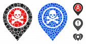 Dangerous Zone Pointer Mosaic Of Filled Circles In Various Sizes And Color Tones, Based On Dangerous poster