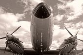 Retro Airplane Front View