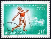 Postage stamp Hungary 1966 Discus Thrower and Matthias Cathedral