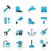Construction and building equipment Icons
