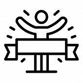 Finish Ribbon Marathon Icon. Outline Finish Ribbon Marathon Vector Icon For Web Design Isolated On W poster