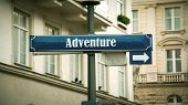Street Sign The Direction Way To To Adventure poster