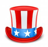 usa top hat for independence day vector illustration isolated on white background EPS10. Transparent