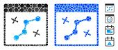 Path Points Calendar Page Mosaic Of Small Circles In Different Sizes And Color Tinges, Based On Path poster