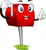 Mascot Illustration Featuring a Mailbox