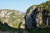 View Of Vikos Gorge From Monastery Of Agia Paraskevi Monodendri Greece poster