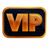 Vip Inscription On Black Icon. Cartoon Of Vip Inscription On Black Vector Icon For Web Design Isolat poster