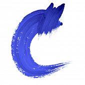 C - Blue handwritten letters over white background