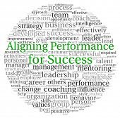 image of change management  - Aligning Performance for Success concept in word tag cloud on white background - JPG
