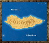 Map of the island of Socotra