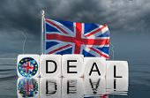 Brexit Concept Image Of Uk Flag Sinking As The Trade Deal With The Eu Runs Into Difficulties In 2020 poster